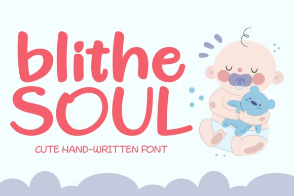 Print on Demand: Blithe Soul Script & Handwritten Font By Keithzo (7NTypes)