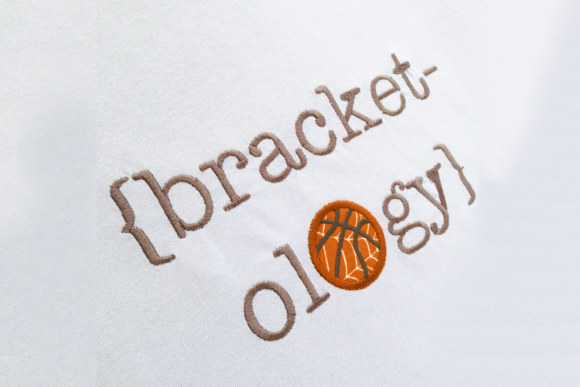 Bracketology March Madness Applique Sports Embroidery Design By DesignedByGeeks