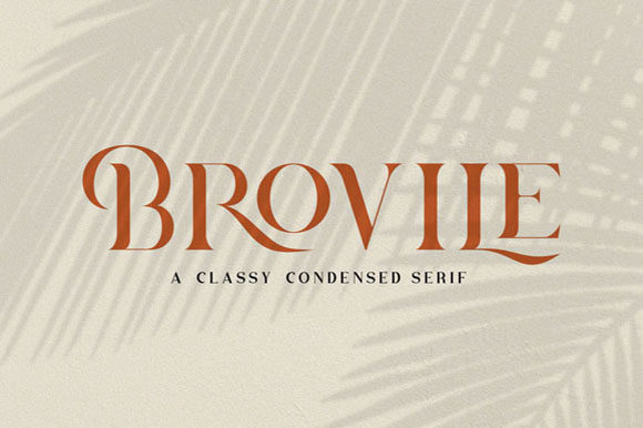 Print on Demand: Brovile Serif Fuente Por Hanzel Studio