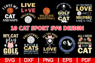 Download Free Cat Sports Design Graphic By Artistcreativedesign Creative Fabrica for Cricut Explore, Silhouette and other cutting machines.