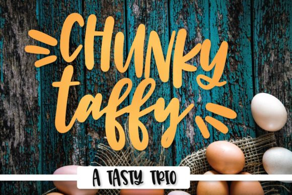 Print on Demand: Chunky Taffy Display Font By Justina Tracy