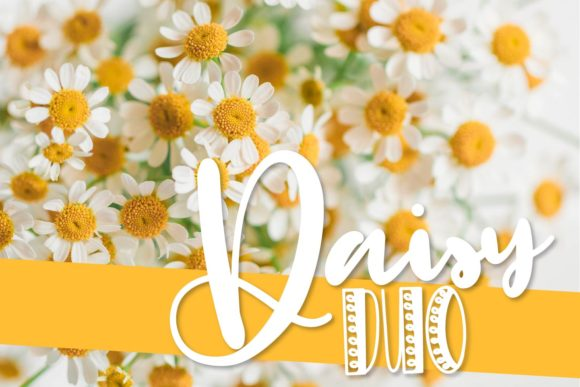 Print on Demand: Daisy Duo Display Font By Justina Tracy - Image 1