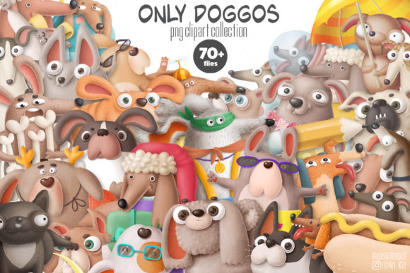 Print on Demand: Dogs Bundle Graphic Illustrations By Architekt_AT - Image 1