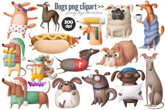Print on Demand: Dogs Bundle Graphic Illustrations By Architekt_AT - Image 10