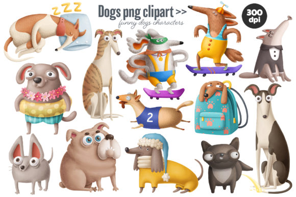Print on Demand: Dogs Bundle Graphic Illustrations By Architekt_AT - Image 11