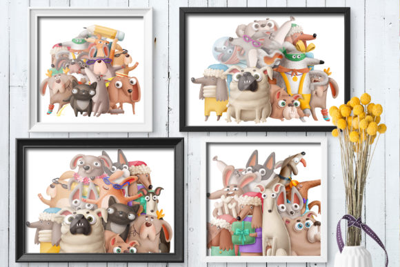 Print on Demand: Dogs Bundle Graphic Illustrations By Architekt_AT - Image 14