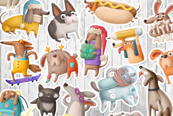 Print on Demand: Dogs Bundle Graphic Illustrations By Architekt_AT - Image 15