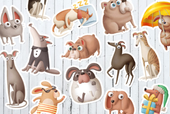 Print on Demand: Dogs Bundle Graphic Illustrations By Architekt_AT - Image 16
