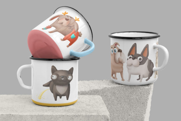 Print on Demand: Dogs Bundle Graphic Illustrations By Architekt_AT - Image 3