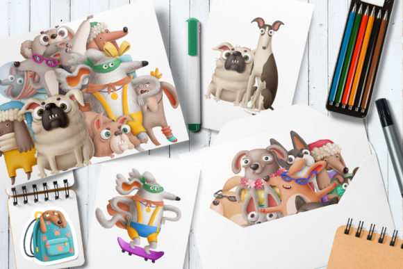 Print on Demand: Dogs Bundle Graphic Illustrations By Architekt_AT - Image 4