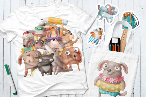 Print on Demand: Dogs Bundle Graphic Illustrations By Architekt_AT - Image 5