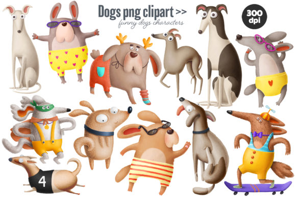 Print on Demand: Dogs Bundle Graphic Illustrations By Architekt_AT - Image 8