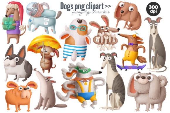 Print on Demand: Dogs Bundle Graphic Illustrations By Architekt_AT - Image 9