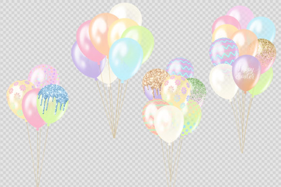 Easter Balloons Clipart Graphic Illustrations By Digital Curio - Image 2