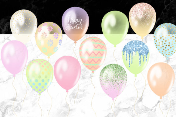 Easter Balloons Clipart Graphic Illustrations By Digital Curio - Image 3