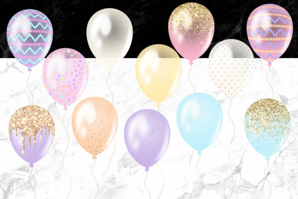 Easter Balloons Clipart Graphic Illustrations By Digital Curio - Image 4
