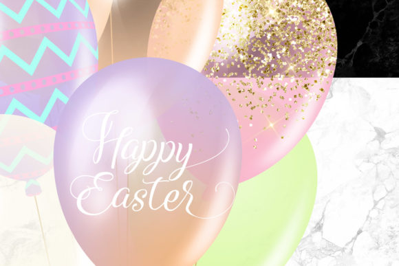 Easter Balloons Clipart Graphic Illustrations By Digital Curio - Image 5