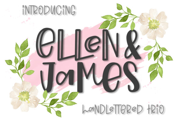 Print on Demand: Ellen & James Display Font By Justina Tracy