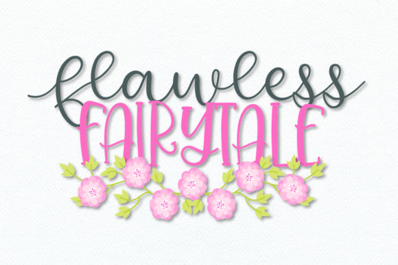 Print on Demand: Flawless Fairytale Display Font By Justina Tracy