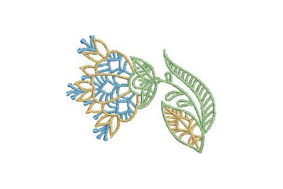 Flower Outline Outline Flowers Embroidery Design By Embroidery Designs - Image 1