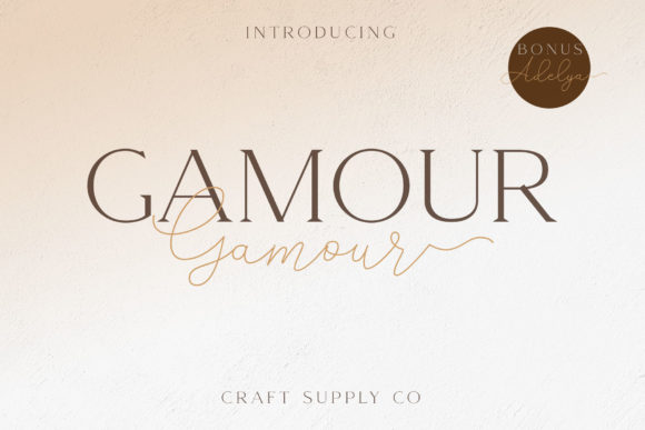 Print on Demand: Gamour Serif Font By craftsupplyco
