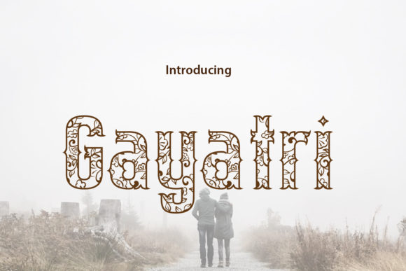 Print on Demand: Gayatri Blackletter Font By da_only_aan