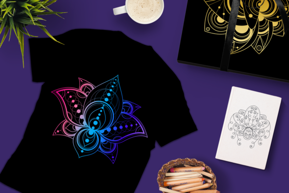 Print on Demand: Geometric Lotuses Set Graphic Objects By barsrsind - Image 3
