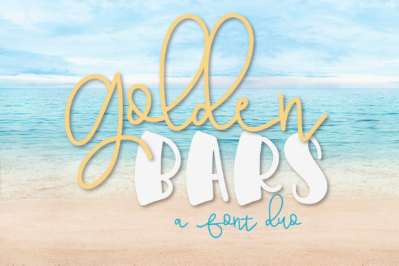 Print on Demand: Golden Bars Dingbats Font By Justina Tracy - Image 1