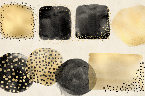 Golden Cheetah Brush Strokes Graphic Illustrations By Digital Curio - Image 3