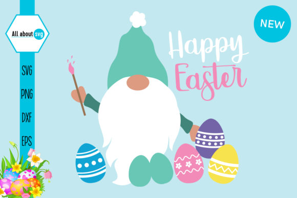 Happy Easter Gnome Graphic Crafts By All About Svg