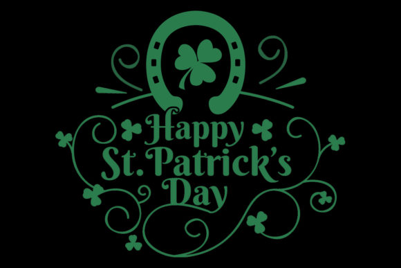 Print on Demand: Happy St Patrick's Day Lucky Horseshoe Graphic Logos By SunandMoon