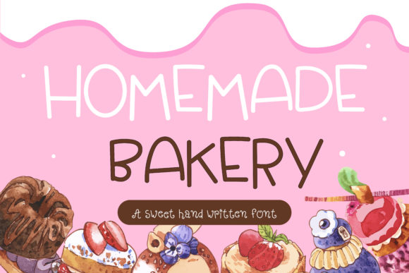 Print on Demand: Homemade Bakery Script & Handwritten Font By vividdiy8