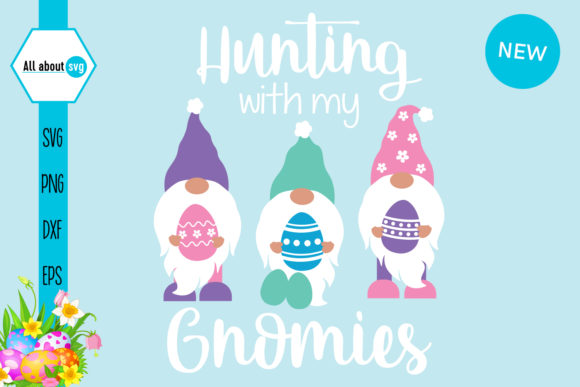 Hunting with My Gnomies Graphic Crafts By All About Svg