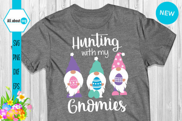 Download Free Hunting With My Gnomies Graphic By All About Svg Creative Fabrica for Cricut Explore, Silhouette and other cutting machines.