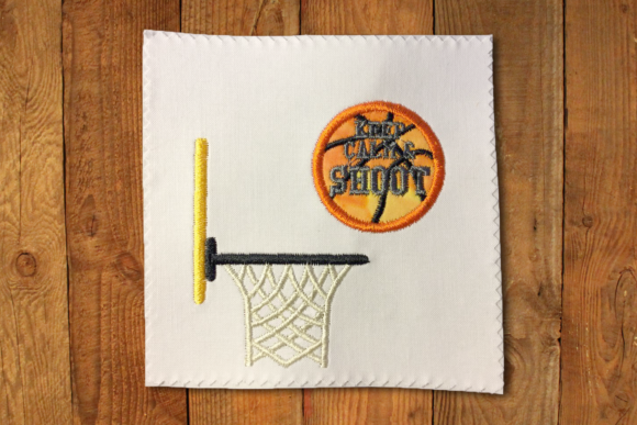 Keep Calm and Shoot Basketball Applique Sports Embroidery Design By DesignedByGeeks - Image 2