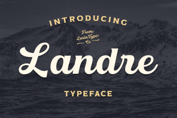 Print on Demand: Landre Script & Handwritten Font By Pasha Larin