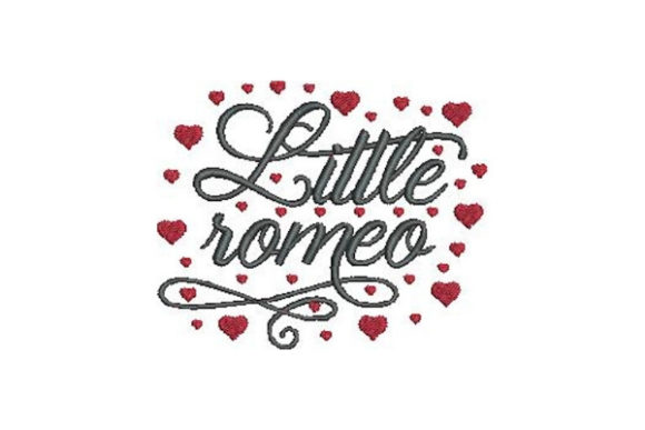 Little Romeo Valentine's Day Embroidery Design By Embroidery Designs