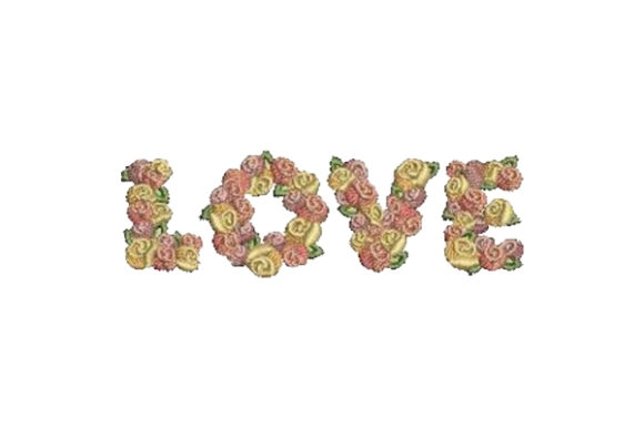 Love Roses Valentine's Day Embroidery Design By Embroidery Designs