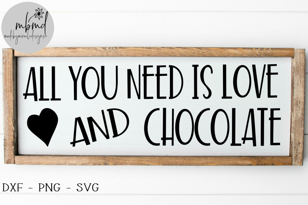 Download Free Love And Chocolate Graphic By Madebymiracledesigns Creative for Cricut Explore, Silhouette and other cutting machines.