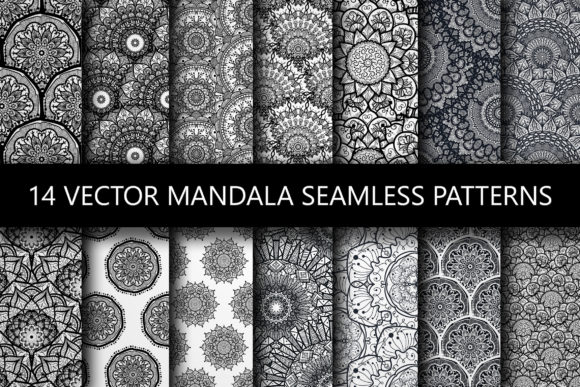 Print on Demand: Mandala Seamless Patterns Graphic Patterns By barsrsind
