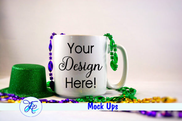 Download Free Mardi Gras Cup Mock Up Graphic By Family Creations Creative for Cricut Explore, Silhouette and other cutting machines.