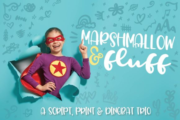Print on Demand: Marshmallow Fluff Display Font By Justina Tracy