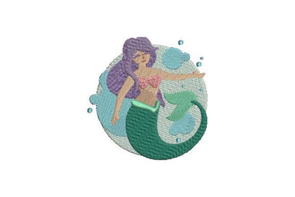 Mermaid Beach & Nautical Embroidery Design By Embroidery Designs