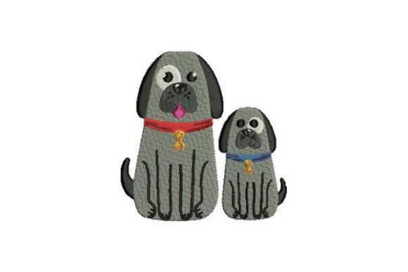 Mom and Baby Dogs Dogs Embroidery Design By Embroidery Designs - Image 1