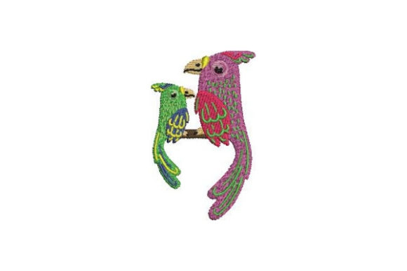 Mom and Baby Parrots Birds Embroidery Design By Embroidery Designs - Image 1