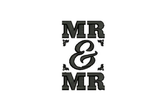 Mr & Mr Bachelor Embroidery Design By Embroidery Designs - Image 1