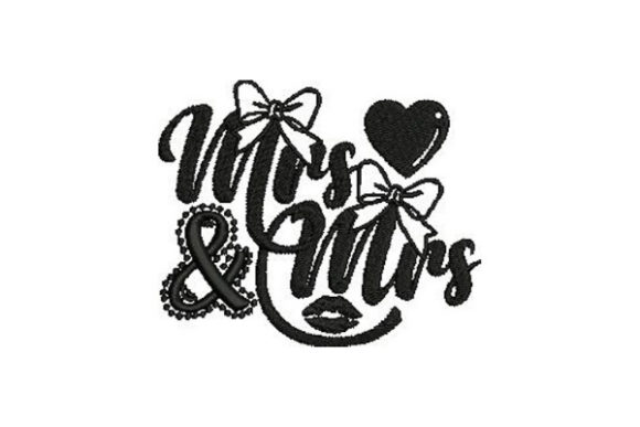 Mrs & Mrs Bachelorette Embroidery Design By Embroidery Designs - Image 1