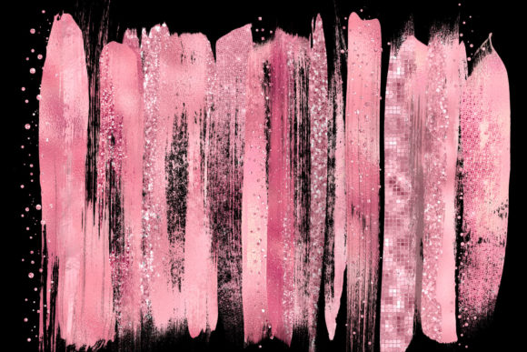 Pink Paint Strokes Clipart Graphic Illustrations By Digital Curio - Image 2