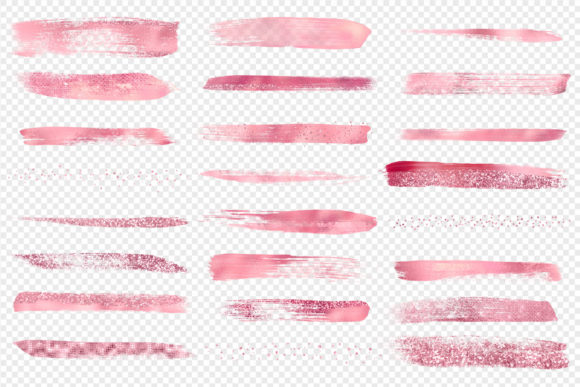Pink Paint Strokes Clipart Graphic Illustrations By Digital Curio - Image 3