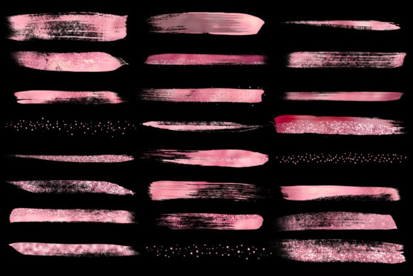 Pink Paint Strokes Clipart Graphic Illustrations By Digital Curio - Image 4